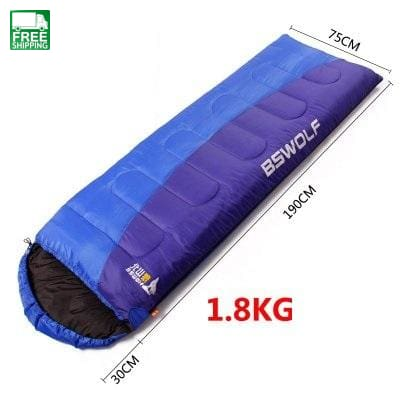 Sleeping Bag Winter Autumn Envelope Hooded Bags & Camp Bedding