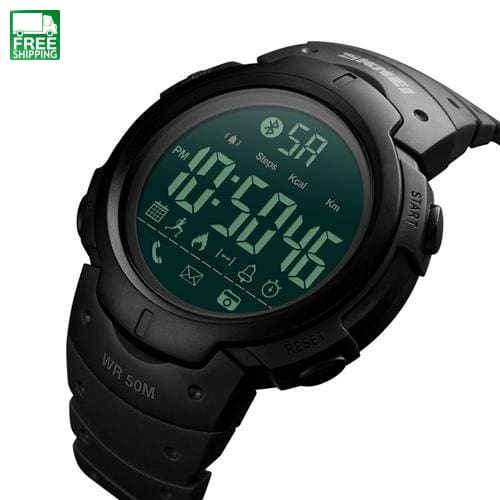Smart Watch Bluetooth Pedometer Calorie Remote Camera Digital Black Sports Watches