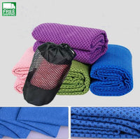 Soft Travel Sport Fitness Exercise Yoga Pilates Mat Cover Towel Outdoor Camping