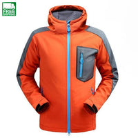 Softshell Jacket Men Breathable Rain Jacket Fleece Windstopper Hiking Outdoor Coat Camping Camping