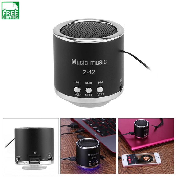 Speaker Fm Radio Z12 Usb Micro Sd Tf Card Mp3 Mini Computer Bluetooth