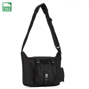 Sports Tactical Bag Mens Nylon Shoulder 14 Inch Laptop Travel Waist Pocket