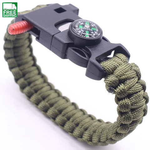 Survival Multi Tool Braded Climbing Rope Cord Bracelets Outdoor Safety &