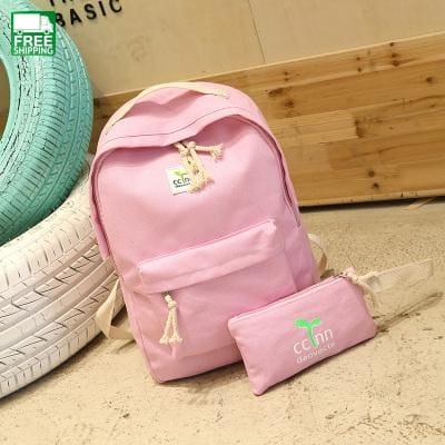 Teenage Backpacks Girls Canvas Backpack Leisure Student Feminine Camping Backpacks