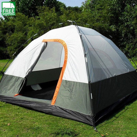 Three Person Tent 200*200*130Cm Double Layer Weather Resistant Camping Tent