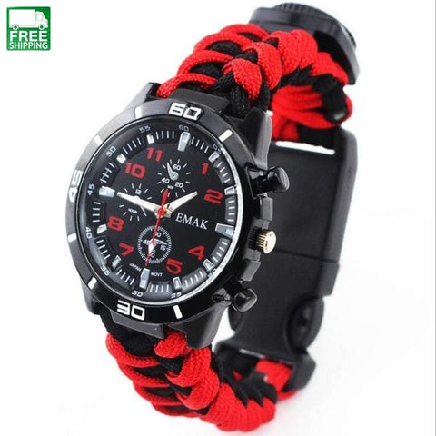 Travel Seven Core Hand-Woven Rope Survival Multifunctional Black White / Dial 4Cm Safety &