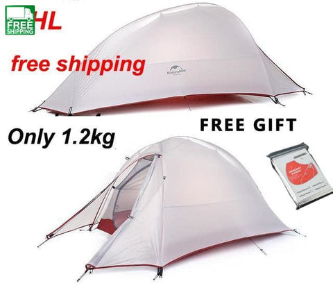 Ultralight Double-Layer Camping Tent For 2 People Gray Tents & Shelters