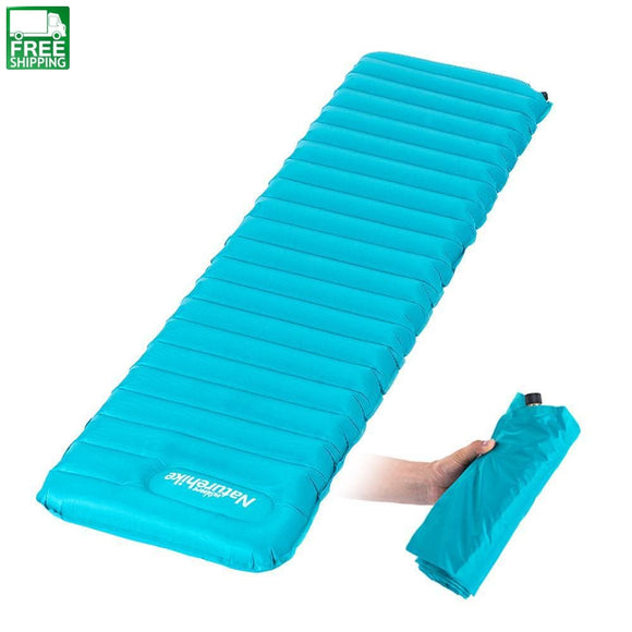 Ultralight Hand Press Inflating Sleeping Mat Camping Sleep Mats