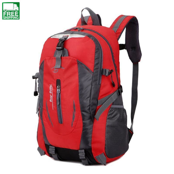 Waterproof Nylon Bag For Camping (Can Hold A 15 Laptop) Red Backpacks & Bags