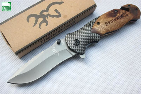 Wood Handle Pocket Knife With Titanium Steel Blade Knives