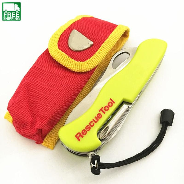 Yellow Multi-Functional Tool Swiss Knife Outdoor Camping Safety & Survival