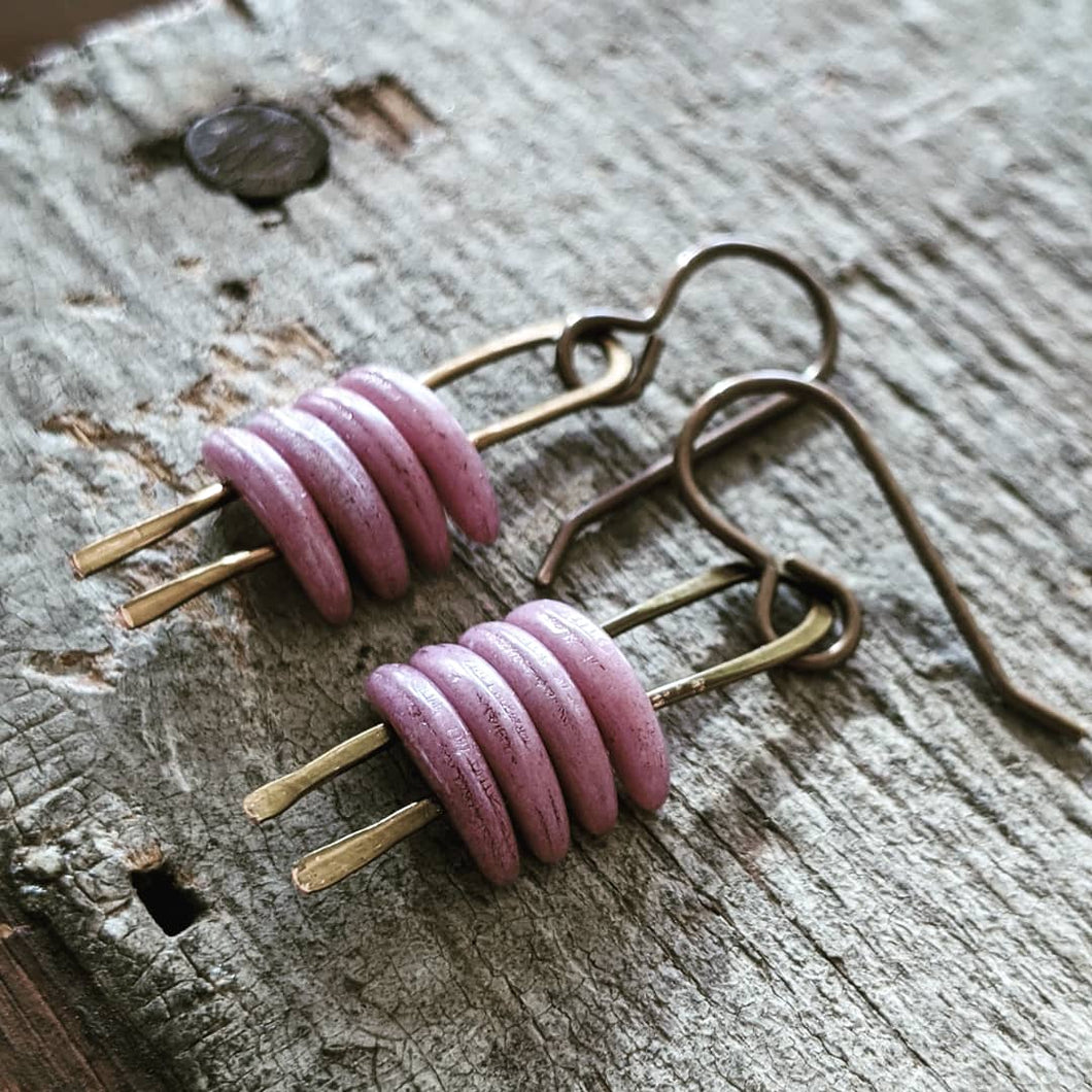 Stacked Crescent Earrings- 5 color options