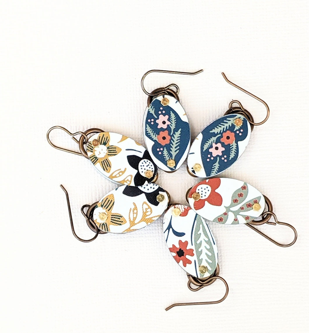 Harbinger Collection Riveted Floral Earrings
