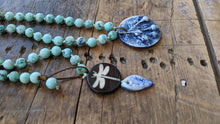 Knotted Necklace with Ceramic Pendant