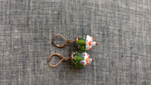Multicolor Matte Lampwork Earrings