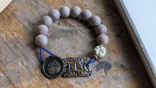 Fly Bracelet with Owl Button