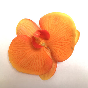 Orchid Single Hair Clip - Burnt Orange
