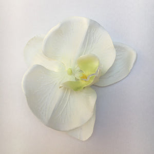 Orchid Single Hair Clip  - Off White