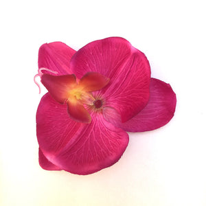 Orchid Single Hair Clip - Fuchsia Flower