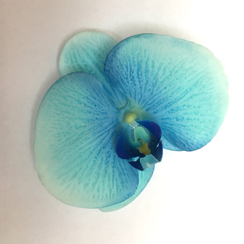 Orchid Single Hair Clip - Shades of Blue
