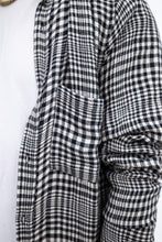 TEXTURED PLAID OVERSHIRT - [ 1 ] COLLECTION