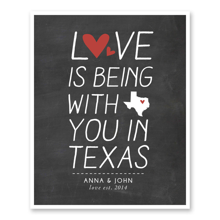 Gifts For Boyfriend Love Is Being With You custom art print