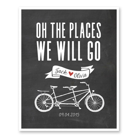Oh The Places We Will Go Bicycle Themed Wedding