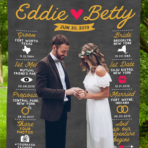 unique Infographic Wedding Backdrop
