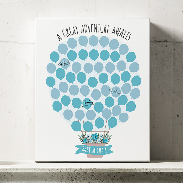 Hot Air Balloon Baby Shower Guest Book Alternative