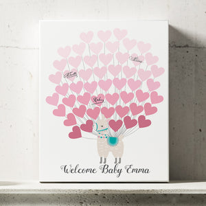 Llama Girl Baby Shower Guest Book Alternative