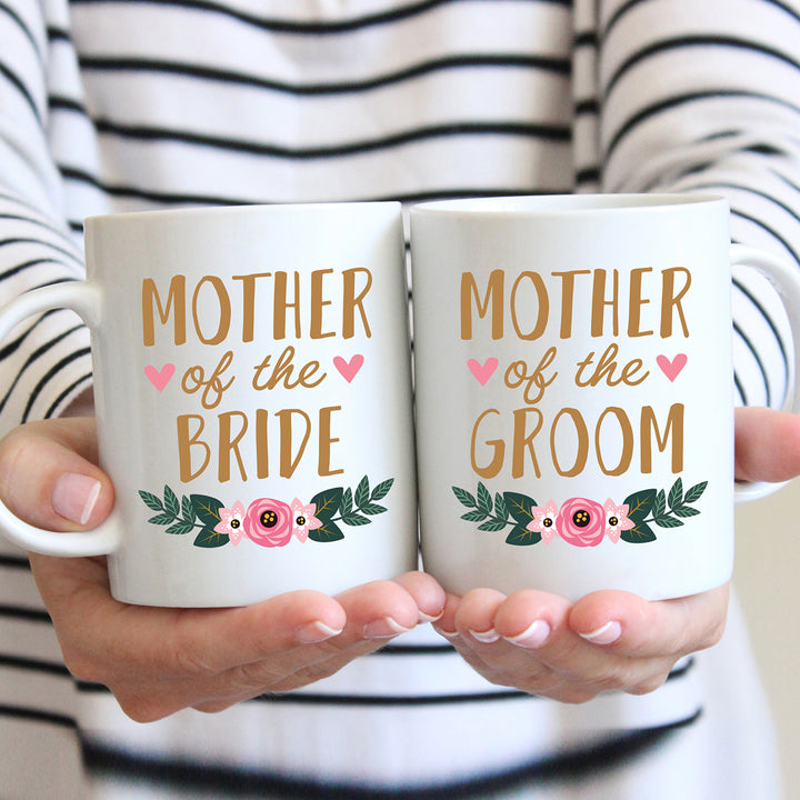 Mugs for the mother of the bride and mother of the groom.