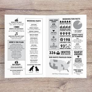 Mini Bi-fold Newspaper Wedding Program