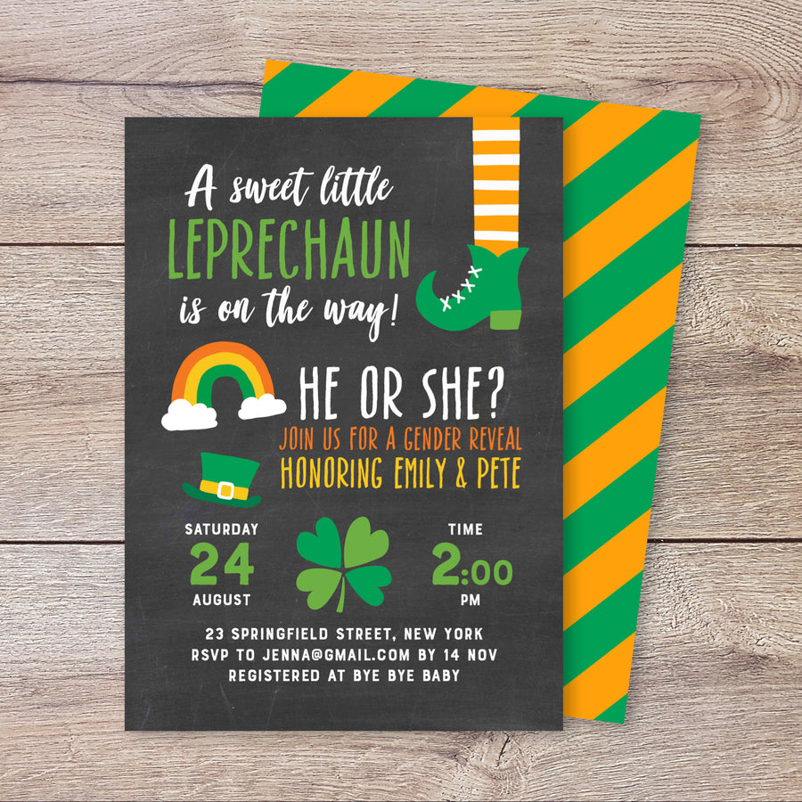 A Little Leprechaun Baby Shower Invitation