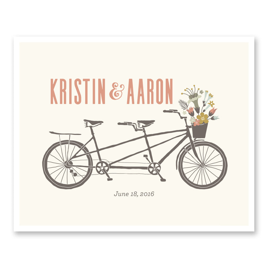 Wedding Gift Ideas Custom Vintage Tandem Bike Wedding