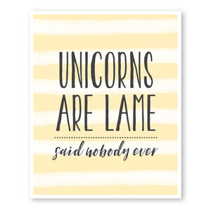 Unicorns Are Lame...