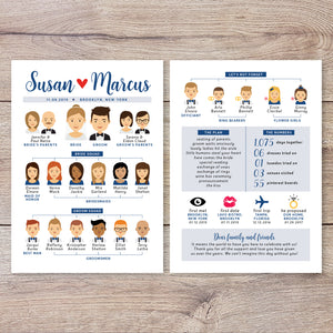 Portrait Chart Infographic Wedding Program