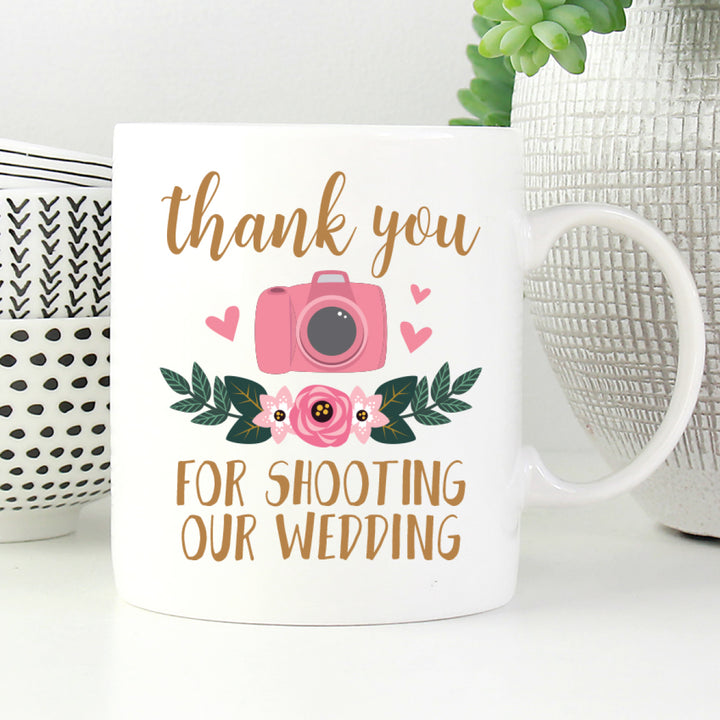 Thank You For Shooting Our Wedding Mug