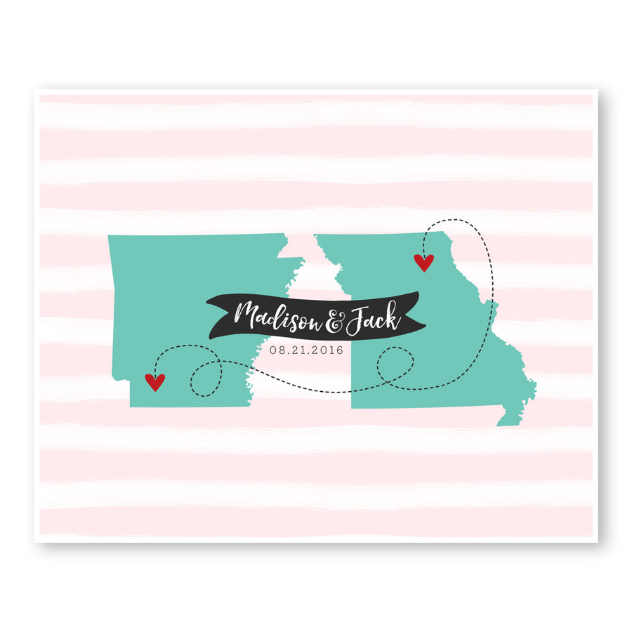 States Wedding Guest Book Alternative
