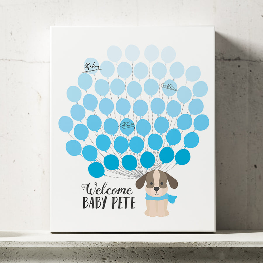 Puppy Baby Shower Guest Book Alternative