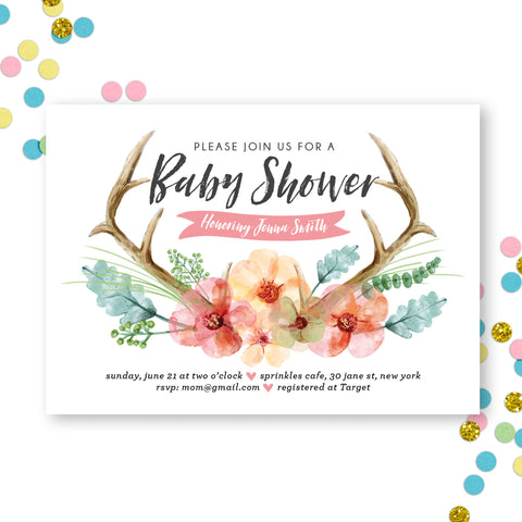 baby-shower-invitation-antler-custom
