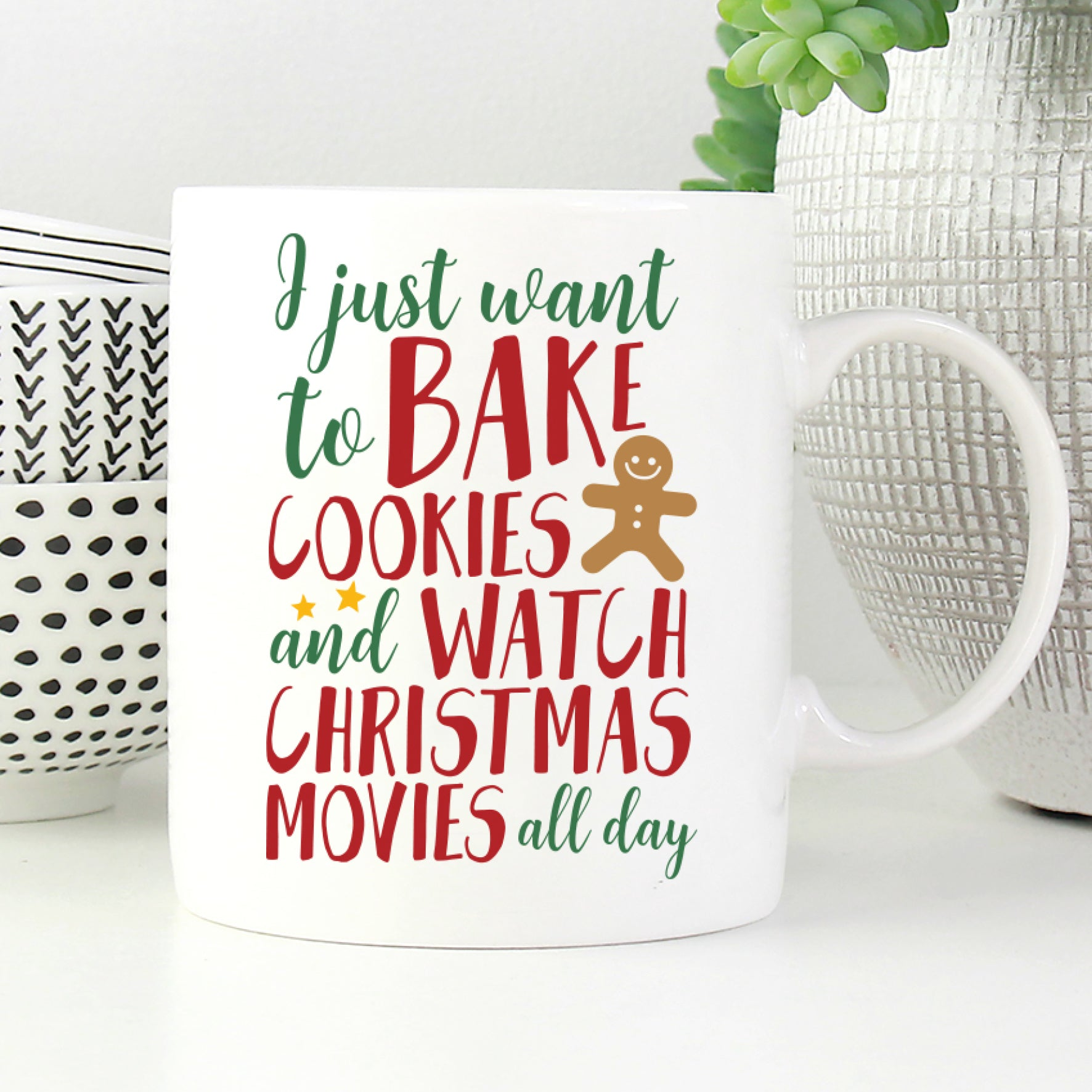 Bake Cookies And Watch Christmas Movies Mug Puff Paper Co