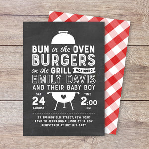 BBQ Boy Baby Shower Invitation