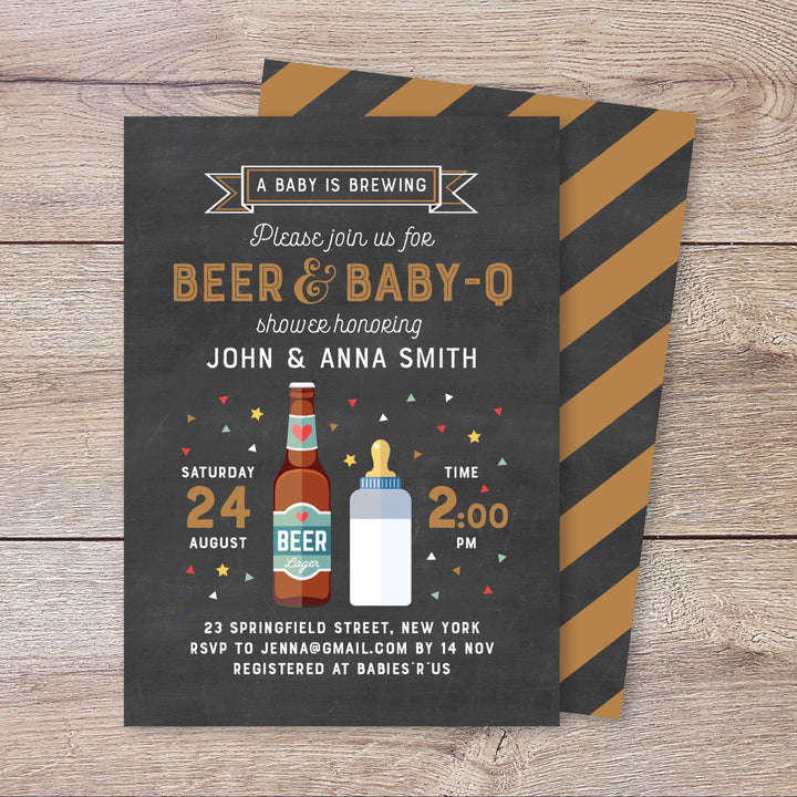 Baby is Brewing Shower Invitation
