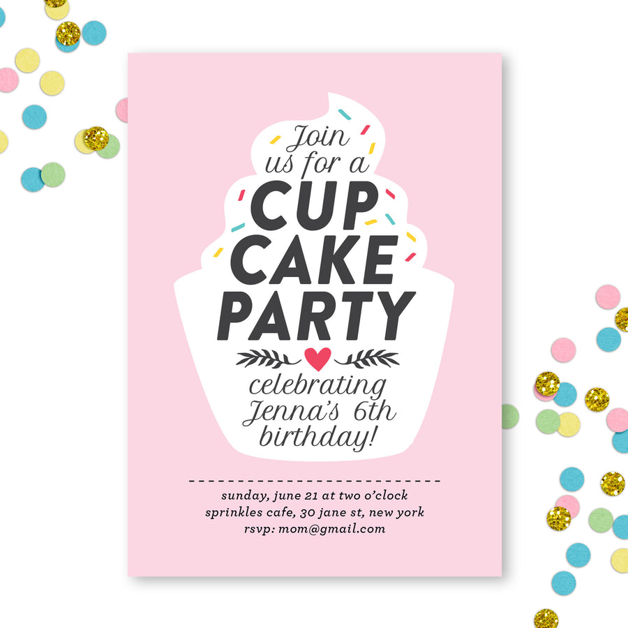 Cupcake Birthday Invite