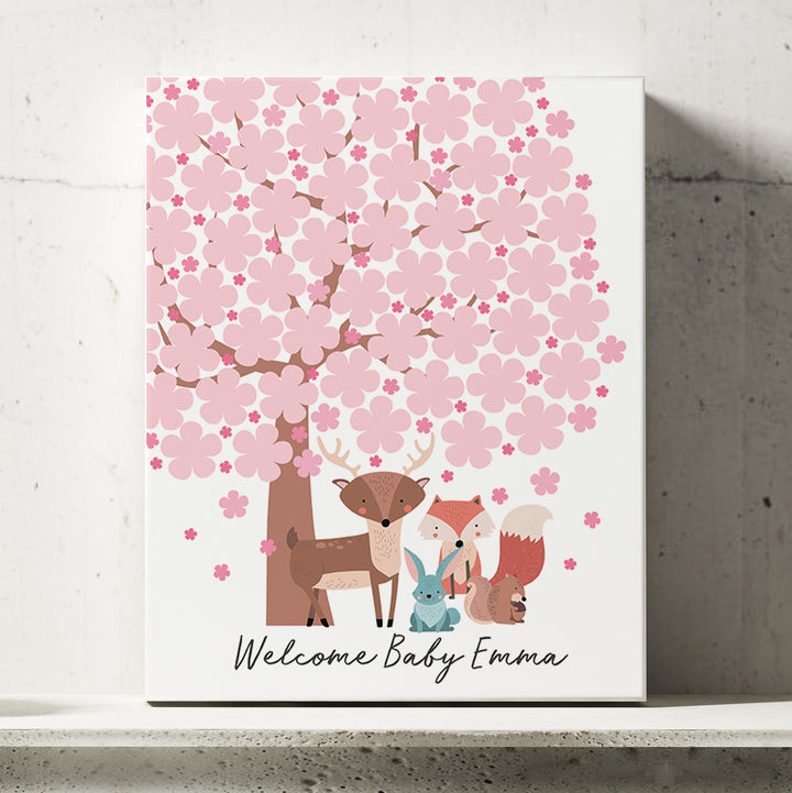 Cherry Blossom Baby Shower Guest Book Alternative