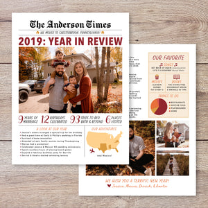 Christmas Newsletter Year in Review