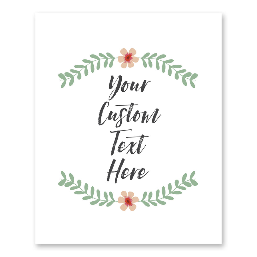 Simple Floral Custom Quote