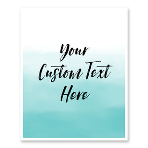 Ombre Custom Quote