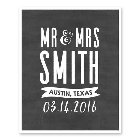 Wedding Gifts For Couples Custom Mr & Mrs Gifts