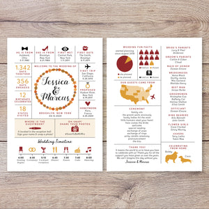 Fall Autumn Wedding Program